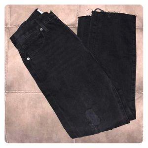 New Frame Denim Le Original Black Jeans Size 26